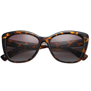 Polarized Women's Vintage Square Jackie O Cat Eye Fashion Sunglasses