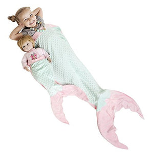 PoshPeanut Mermaid Blanket Softest Minky Comfy Cozy Blankie for Kids