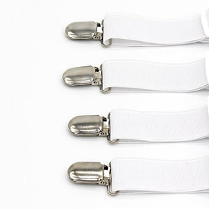 Adjustable Heavy Duty Bed Sheet Grippers Holders Cover Suspenders (Set of 4)