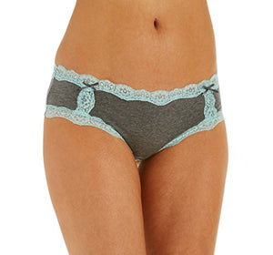 3 Pack: Free to Live Women's All Over Lace Trim Hipster Cotton Panties