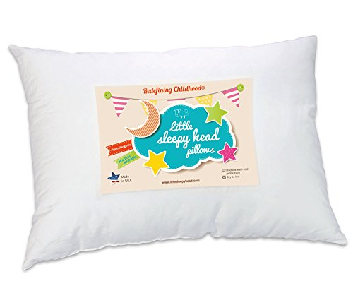 Little Sleepy Head Toddler Pillow, White, 13 X 18