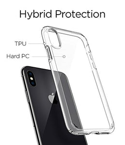 Hybrid iPhone X Case with Air Cushion and Clear Hybrid Drop Protection