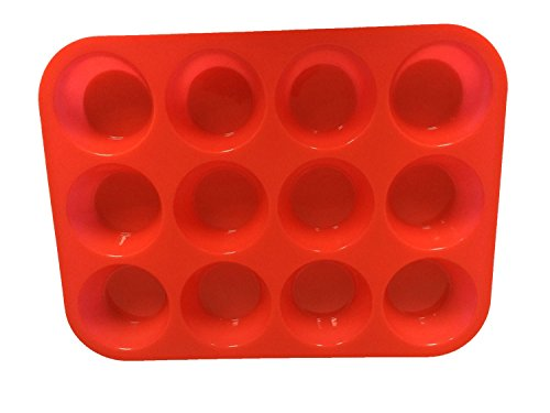 12 Cup Silicone Muffin & Cupcake Non - Stick Baking Pan