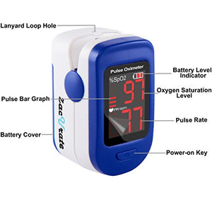 500BL Fingertip Pulse Oximeter Blood Oxygen Saturation Monitor