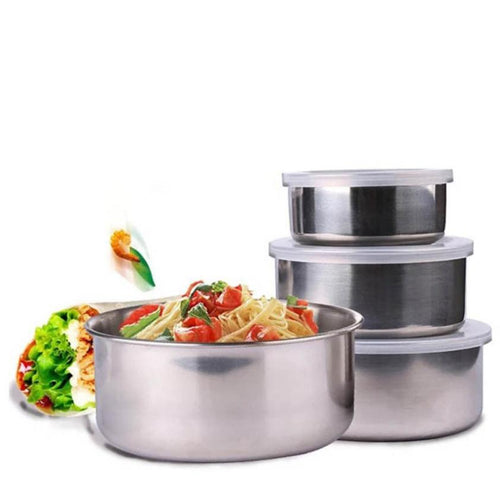 5 Pcs Stainless Steel Mixing Bowl Set