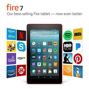 "Fire 7 Tablet with Alexa, 7"" Display, 8 GB, Punch Red - with Special Offers"