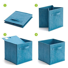 Set of 6 Basket Bins- EZOWare Collapsible Storage Organizer Boxes