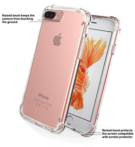 iPhone 7/8 Plus Crystal Clear Shock Absorption Technology Bumper Soft TPU Cover Case