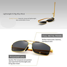 Ultra Lightweight Rectangular Polarized Sunglasses 100% UV protection