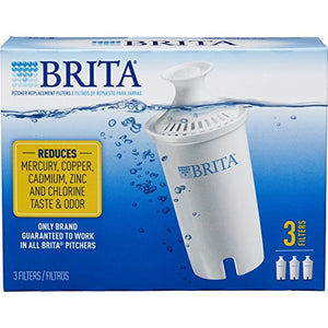 Brita Standard Replacement Filters for Pitchers and Dispensers - BPA Free - 3 Count