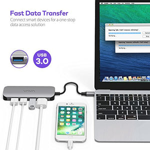 VAVA USB C Hub Adapter with 100W Power Delivery, Ethernet Port, SD Card Reader, HDMI Port, 3 USB 3.0 Ports for MacBook Pro and Type C Windows Laptops