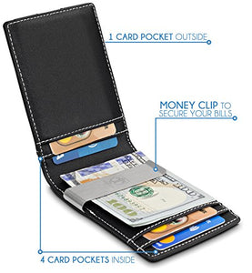 Minimalist Men's Money Clip Slim Wallet
