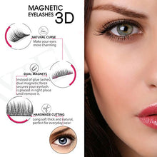 Dual Magnets Natural False Eyelashes -Reusable Extensions  (4pcs)