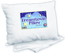 Dreamtown Kids Toddler Pillow With Pillowcase 14x19 White