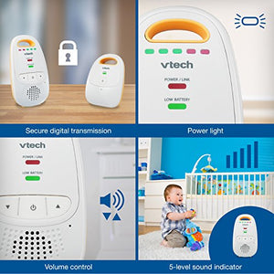 VTech DM111 Audio Baby Monitor with up to 1,000 ft of Range,