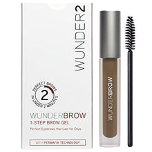 WUNDER2 WUNDERBROW Long Lasting Eyebrow Gel for Waterproof Eyebrow Makeup, Brunette Color