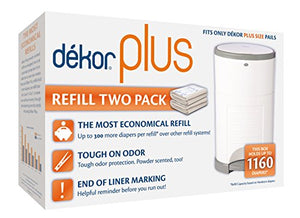 Dekor Plus Diaper Pail Refills | Most Economical Refill System | Quick & Easy to Replace