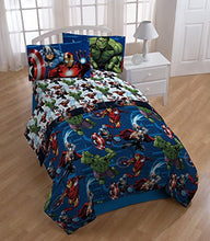 Marvel Avengers Heroic Age Blue/White 3 Piece Twin Sheet