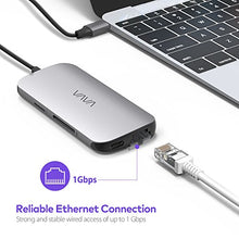 USB C Hub Adapter with 100W Power Delivery, Ethernet Port, SD Card Reader, HDMI Port & More