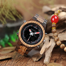 Wooden Watch With LED Dual Display