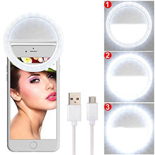 Rechargeable 3 Level Selfie Ring Light