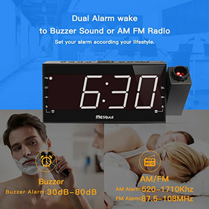 "Mesqool 7"" Projection Alarm Clock for Travel & Home"