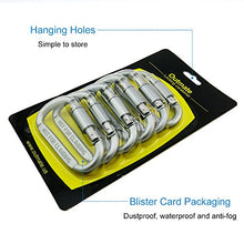 6 pcs Aluminum D-ring Locking Carabiners Set