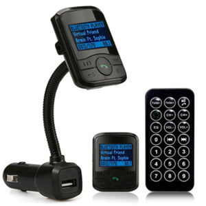 5M Audio USB TF Card Flexible CVC DSP LCD Car Kit MP3 Bluetooth Player FM Transmitter Modulator SD MMC USB Remote 	Bluetooth