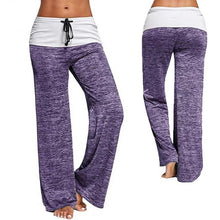 Women Yoga Pants Sports leggings  Exercise Fitness Running Jogging Trousers Foldover Heather Wide Leg yoga legins sport Pant