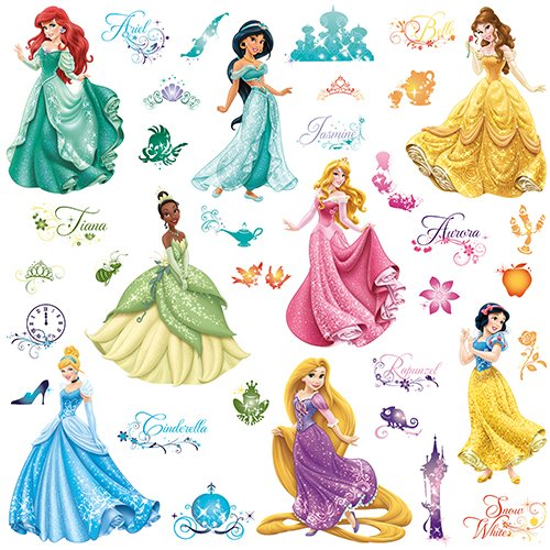 37pcs Disney Princess Peel And Stick Wall Decals