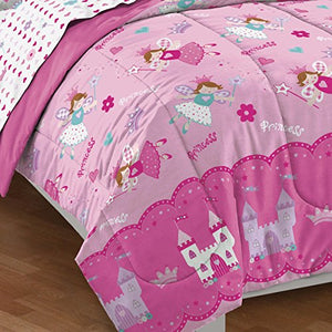 Magical Princess Ultra Soft Microfiber Girls Comforter Set, Pink, Twin