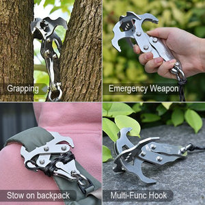 Grappling Hook - Rock Climbing Equipment Climbing Rope Survival Carabiner