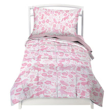 Toddler Bedding Set for Girls in Pink Folk Animals - Double Brushed Ultra Microfiber Luxury Bedding Set