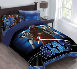 Star Wars The Force Awakens Comforter Set with Fitted Sheet, Full