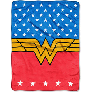 DC Comics Wonder Woman Plush Throw Blanket ~ 46 x 60