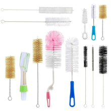 13Pc Food Grade Multipurpose Cleaning Brush Set, Includes Nipple Cleaner|Bottle Brush