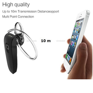 Bluetooth Hands Free Wireless Headset with Mic for iPhone 7, 8