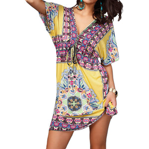 Bohemian Casual Beach Sundress