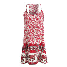 Floral Print Bohemian Sleeveless Summer Dress