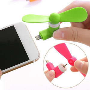 BinFul Mini Portable Cool Micro USB Fan 5v 1w Mobile Phone USB Gadget Fans Tester For iphone 5 5s 5c se 6 6s 7 plus 8
