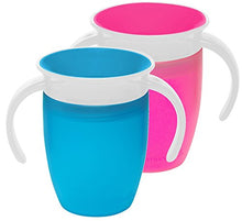 360 Trainer Cup, Green/Blue, 7 Ounce, 2pcs Set