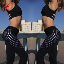 Striped Fitness Yoga Leggings