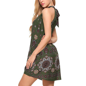 Loose Fit Casual Summer Bohemian Party Dress