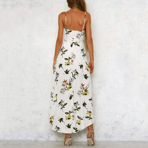 Long Back Open Front Maxi Dress