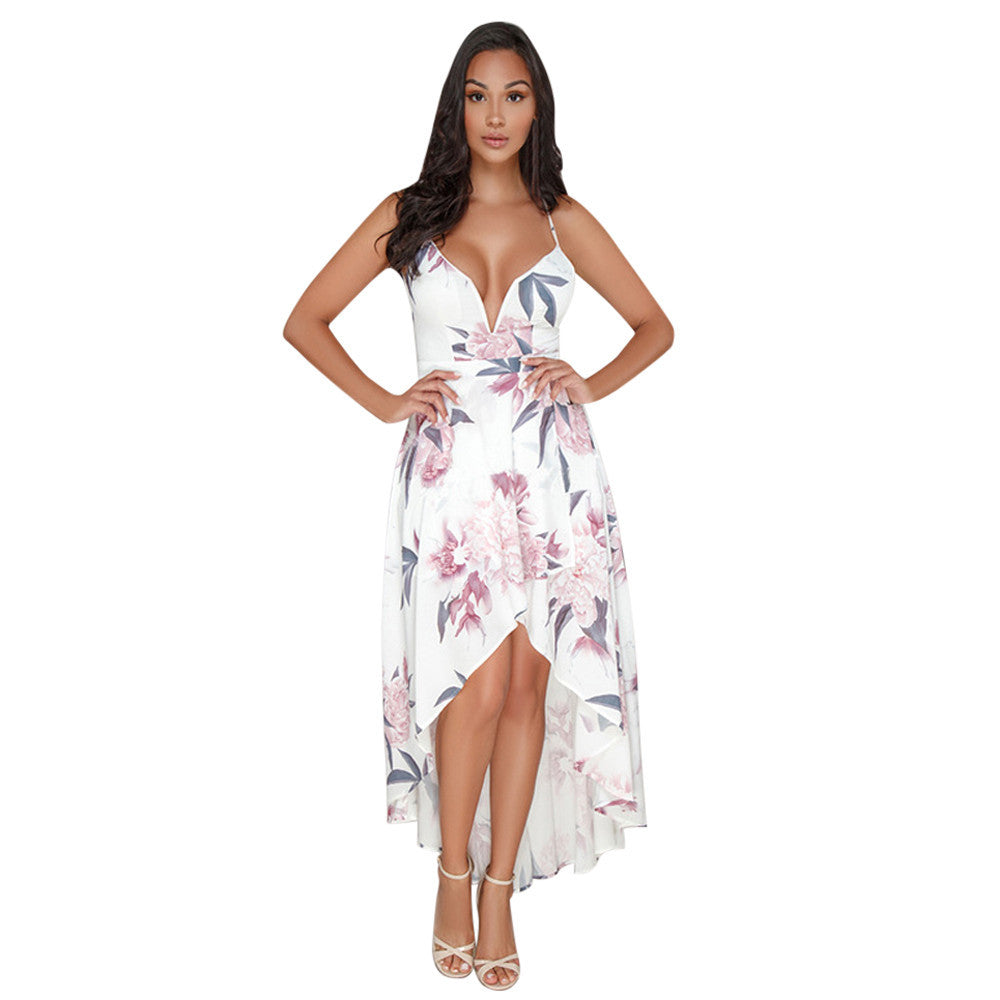 Floral High Knee Maxi Dress