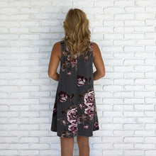 Sleeveless Floral Party Cocktail Dress