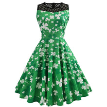 Vintage Green Sleeveless Swing Dress