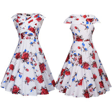 Vintage Floral Summer Tea Dress