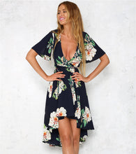 Floral Print Chiffon Summer Dress