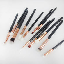 12Pc Rose Gold Makeup Brush Set